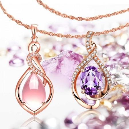类似爱情【轻奢侈彩色珠宝吊坠钜惠组合-B款】赠1条水波链