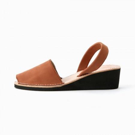 西班牙传统女士皮凉鞋(咖啡色34)