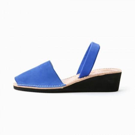西班牙传统女士皮凉鞋(蓝色34)
