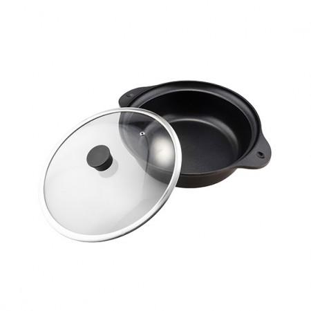 珍珠生活 磁力加热IH对应桌上锅27cm双耳设计加大直径