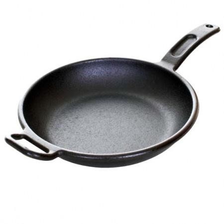 [Lodge洛极]美国原产 健康无涂层铸铁炒锅30cm P12S3