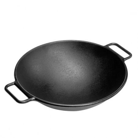 [Lodge洛极]美国原产 无涂层(电磁炉通用)铸铁锅少油烟圆底大炒锅37cm