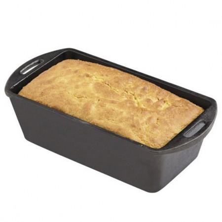 [Lodge洛极]美国原产 无涂层铸铁长条面包模具吐司模具26 x 13 x 7