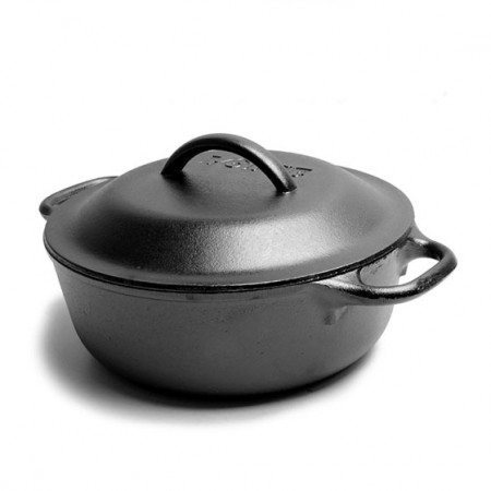 [Lodge洛极]美国原产 健康无涂层铸铁荷兰锅多功能锅20cm L2SP3