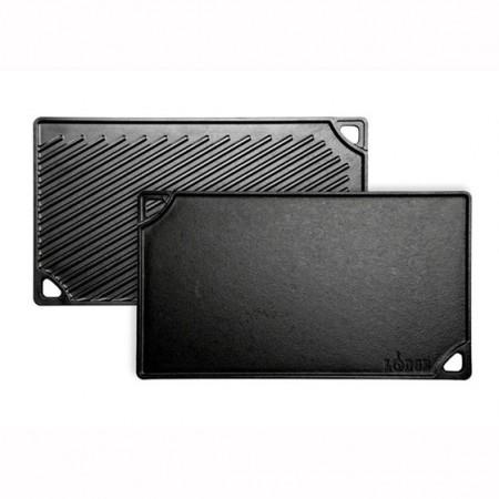 [Lodge洛极]美国原产 平面/横纹两面可用无涂层铸铁煎盘烤盘42.5 x 2