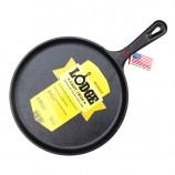 [Lodge洛极]美国原产 健康无涂层铸铁披萨烤盘煎锅铁板烧27cm L9OG3