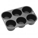 [Lodge洛极]美国原产 6孔烤饼干烤蛋糕工具无涂层铸铁烘培模具 L5P3