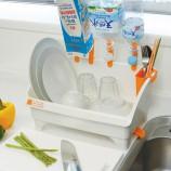 [inomata]多功能厨房餐具盘碗碟沥水架收纳架