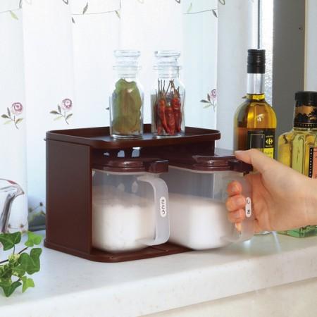 [inomata]厨房调料盒带勺子