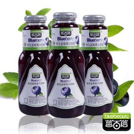 蓝百蓓野生蓝莓果汁8瓶组