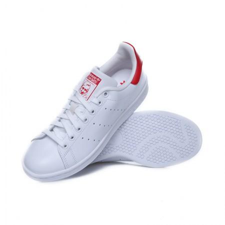 直邮 Adidas Stan Smith系列小白鞋 红尾