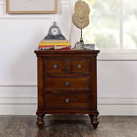奇居良品 现代美式经典家具 安杰尔卧室床头柜B款
