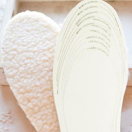[JM]优质可裁剪乳胶羊羔绒保暖鞋垫(2双组合装-均码)