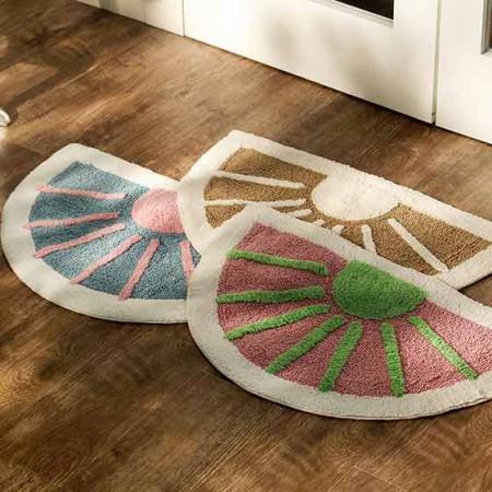 奇居良品 浴室地垫蹭脚垫哈瓦尔半圆形棉质地垫
