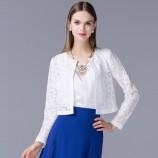 OLiSi 白色时尚蕾丝外套·白色