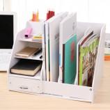 [JM]韩版高品加厚资料书刊书架收纳盒(白色)
