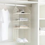 [JM]居家韩版良品3格衣柜收纳架衣柜整理架(米白色)