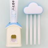 [JM]壁挂云朵防尘牙刷架套装(按压式自动挤牙膏)