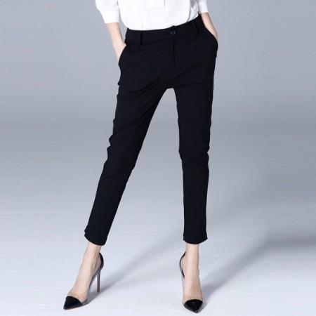 OLiSi黑色时尚简约舒适裤子
