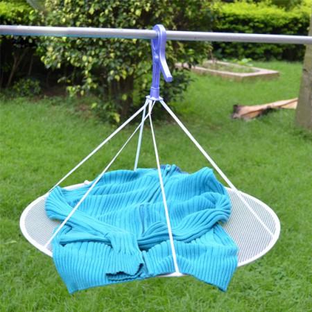 [日本LEC]防变型 毛衣晒衣网