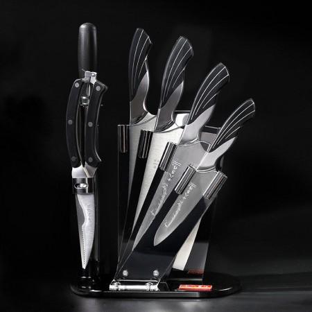 十八子作 雀之韵七件套 厨房多功能刀砍骨刀切片刀菜刀刀具套装