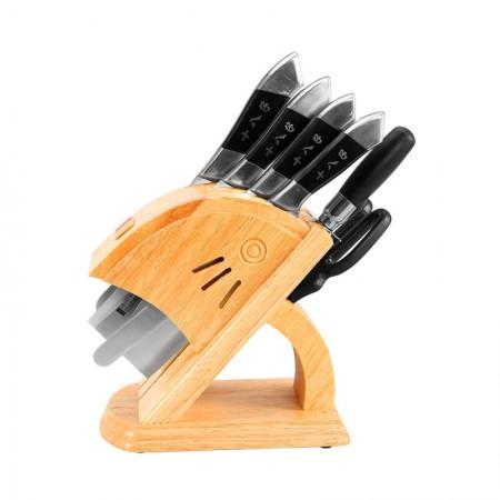 十八子作银鹏七件套 刀具菜刀砍骨刀切菜刀刀具套装