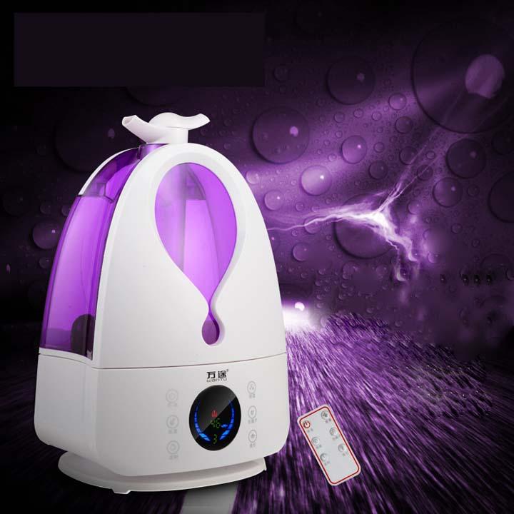 万途 QT-33空气加湿器4L大容量液晶智能遥控·紫色