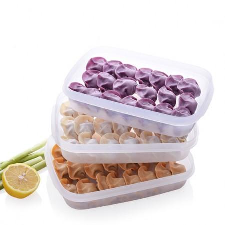 [日本sanada]6个装 冷冻不粘饺子盒保鲜盒 可微波