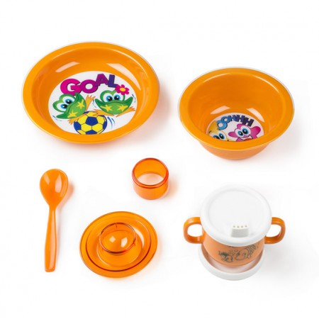 [巴洛奇]意大利原装进口Cosmoplast儿童餐具8件套礼品盒包装