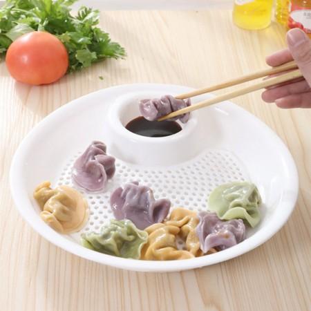 [JM]实用双层沥水饺子盘(4入)