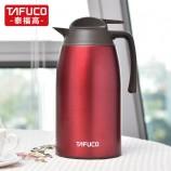 泰福高新款保温壶不锈钢双层真空咖啡壶2.1L