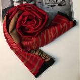 【柔软亲肤】丁摩 羊绒女士披肩围巾hlfw021 红色