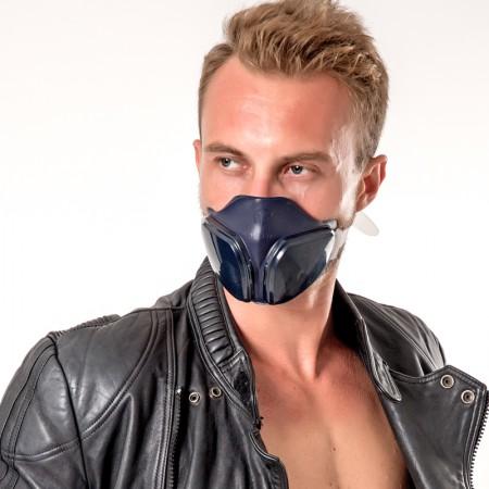 呼吸大师专业防雾霾口罩防尘防细菌时尚款藏青色