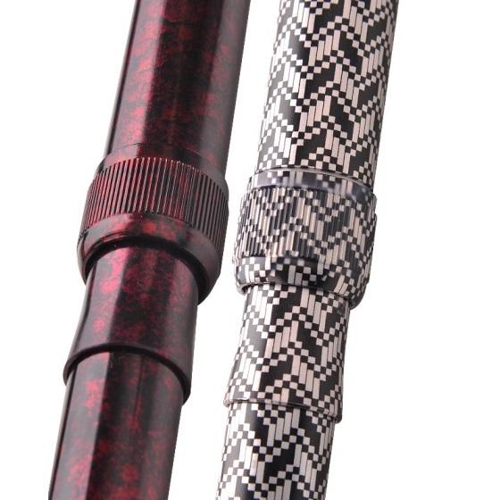 乐来福 可折叠便携手杖登山杖A02-02男款