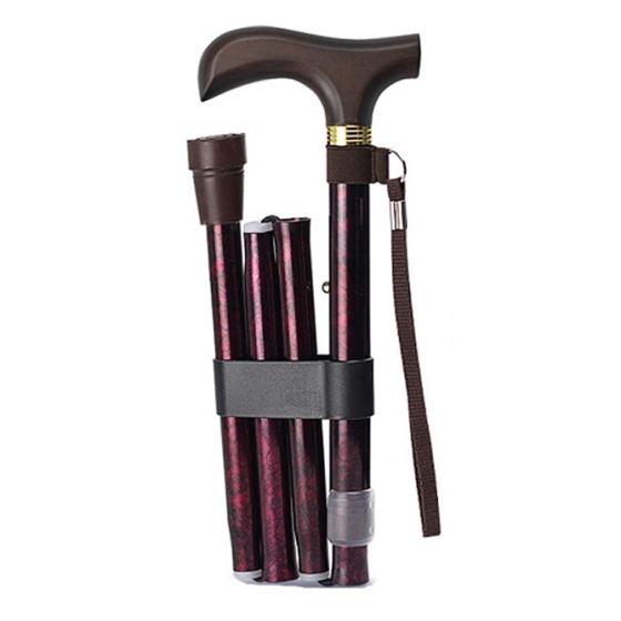 乐来福 可折叠便携手杖登山杖A02-02女款