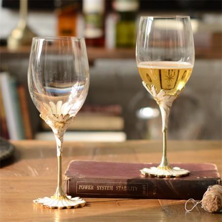 奇居良品 斯隆珐琅彩水晶玻璃红酒杯2件套礼盒·2件套