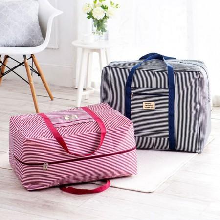 [JM]牛津布出差旅行收纳袋特大号(2件组合装)·蓝色粉色各一套