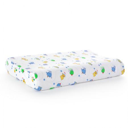 泰嗨 泰国 原装进口天然乳胶高低平面3-6岁儿童专用枕·乳白色