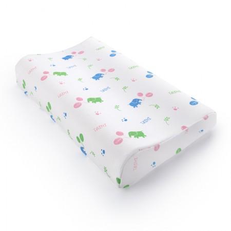 泰嗨 泰国 原装进口天然乳胶高低平面7-12岁儿童专用枕·乳白色