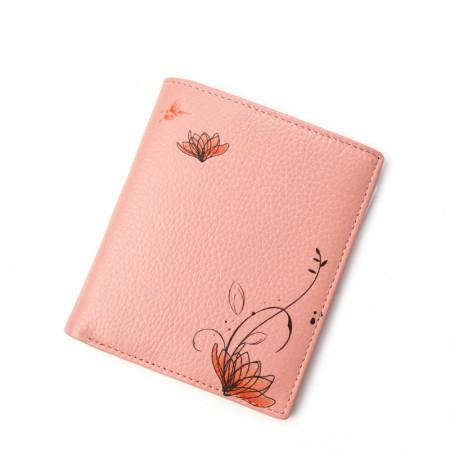 海谜璃短款钱包小清新款简约女士头层牛皮钱夹 H6892-2-3