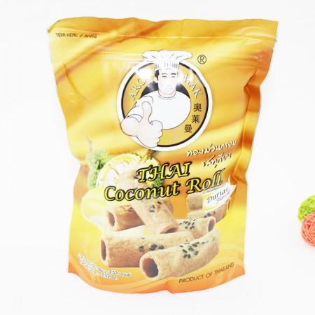 【包邮】泰国进口奥莱曼榴莲椰奶芒鸡蛋卷100g*6袋