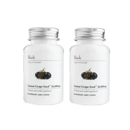 香港直邮 澳洲Unichi黑葡萄籽精华胶囊·60粒*2