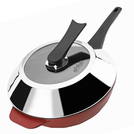 美国品牌recook32CM铸铝旋风不粘炒锅