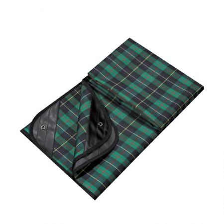 乐游 牛津布防潮防水野餐垫户外公园爬爬垫格纹野餐布·绿色