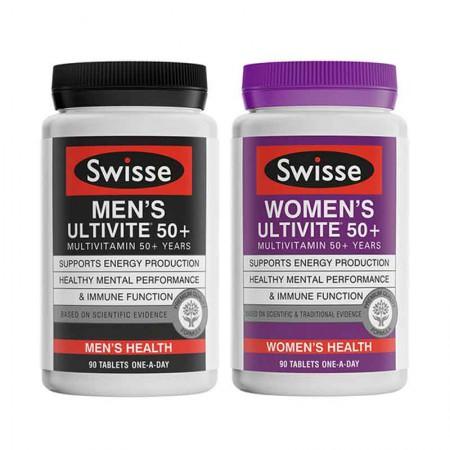 澳洲直邮 Swisse50岁以上中老年男士与女士复合维生素·2瓶