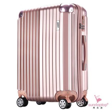 秀乐途(Surelaptop) 新款个性一体全配色防撞包角款男女旅行箱万向轮拉杆