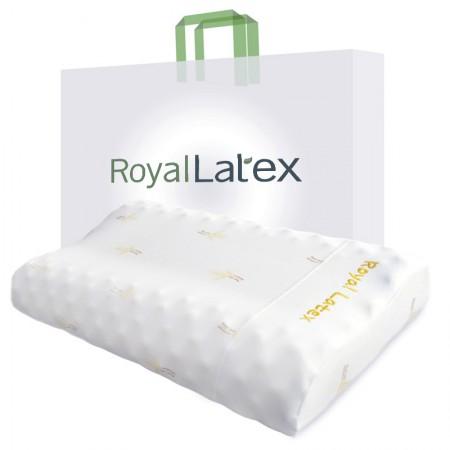 [巴洛奇]Royal Latex 泰国皇家乳胶枕 高低颗粒按摩枕·白色