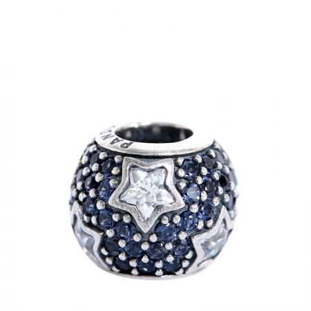 丹麦潘多拉(PANDORA) 蓝色繁星点点镶石串珠·蓝色