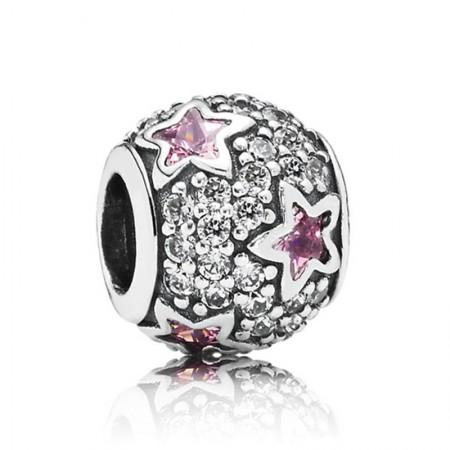 丹麦潘多拉(PANDORA) 粉色繁星点点镶石串珠·粉色