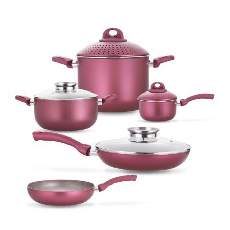 [巴洛奇]pensofal 意大利进口经典厨具•9件套礼盒·红色